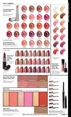 Check out the fabulous things I found in the Mary Kay® eCatalog! Sheer Lipstick, Matte Lipstick, Mary Kay Creme Lipstick, Imagenes Mary Kay, Shade Card, Mary Kay Party, Eyeliner, Eyeshadow, Beauty Consultant