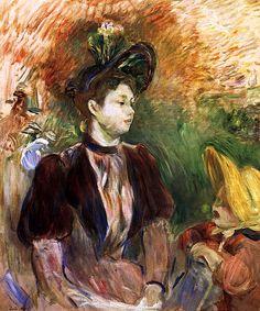 Young Woman and Child, Avenue du Bois Berthe Morisot - 1894
