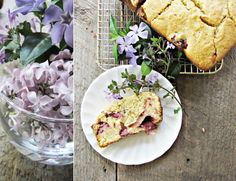 Strawberry Cornmeal Breakfast Cake.  A lovely addition to a weekend breakfast or brunch.