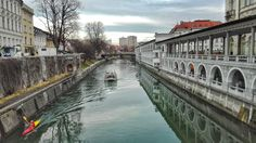 Ljubljana river and market