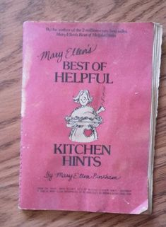 Mary Ellen's Best of Helpful Kitchen Hints 31 page pamphlet red cover ©1980