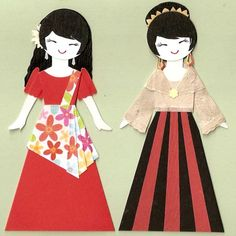 Art of the paper doll - Filipino dolls Filipino Art, Filipino Culture, Diy Arts And Crafts, Paper Crafts, Paper Art, Filipino Fashion, Oki Doki, Philippines Culture, Costumes Around The World