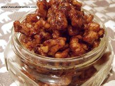 Candied Cinnamon Vanilla Walnuts - raw walnuts, vanilla coconut sugar (sub another sweetener), vanilla, cinnamon, water