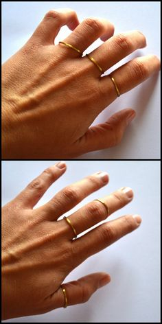 18K Gold Plated Rings Thin Rrings  Stacking by MarianaHandmade, $26.00