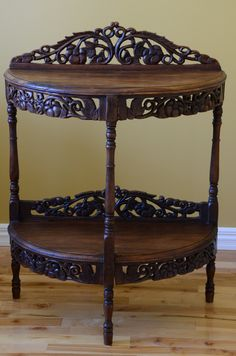 Beautiful antique half moon hall table by VieuxCharmes on Etsy