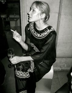 Chloe Sevigny outside a party during Paris fashion week on October 6th, 2007.