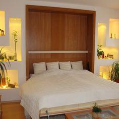 Varázslatos, szekrénybe/falba rejthető ágyak a gyártótól: egy mozdulat a nappaliból háló lesz:-több méretben, színbem formában és kialakításban rendelhető. Murphy Bed, Sweet Home, Room Decor, Modern, Furniture, Home Decor, Home Furnishings, Room Decorations, Decor Room