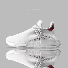 "Pharrell x adidas Originals Hu NMD ""All White"" concept by @maroonnyc"
