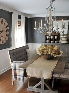 58 Gorgeous Farmhouse Dining Room Decor Ideas