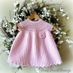 Crochet Baby Dress Features on CrochetSquare.com