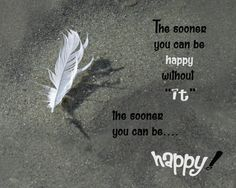 an inspirational quote about being happy.