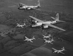 The Ninth Air Force's B-26 Marauders played one of the most important parts in executing all aspects of the OVERLORD air plan. © USAF