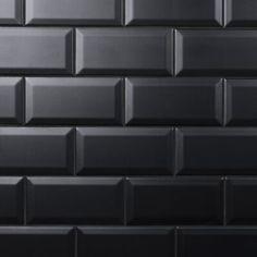 ceramic subway tile colour matte black