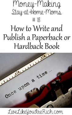 How to Write and Publish a Paperback or Hardback Book #amwriting #selfpub