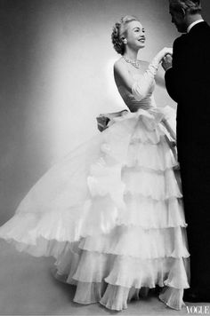 alwaysbevintage:  Belle of the Ball on Balenciaga. Catherine...