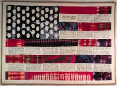 Flag Story Quilt by artist Faith Ringgold