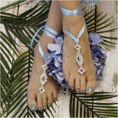 Barefoot sandals blue something blue by Barefootsandalstudio
