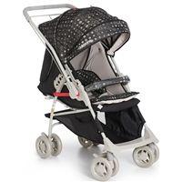 Carrinho de Bebê Reversível Maranello II Galzerano - Preto