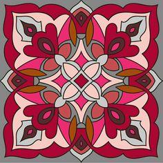 Rangoli Patterns, Doodle Patterns, Mosaic Patterns, Pond Painting, Ceramic Painting, Fabric Painting, Islamic Art Pattern, Pattern Art, Cross Coloring Page