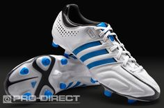 adidas Football Boots - adidas adipure 11Pro TRX FG - Firm Ground - Soccer Cleats - Running White-Bright Blue-Black