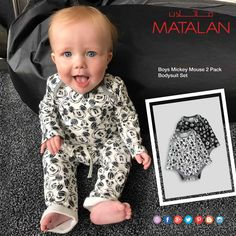 Cute alert! Disneyfind 's Joseph loves our Mickey Mouse one piece! Only available in Oman & UAE  www.matalan-me.com  #MATALANME #Baby #Bodysuit #summer #season #makesfashionsense #tryourquality #greatprice #amazing