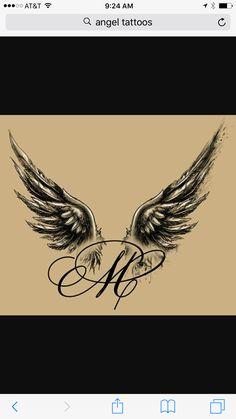 Im Gedenken an Frank initial tattoo Mom Tattoos, Body Art Tattoos, Hand Tattoos, Small Tattoos, Sleeve Tattoos, Tattoos Skull, Tattoo Bauch, Initial Tattoo, Diy Tattoo Permanent