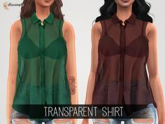 The Sims 4 Elliesimple - Transparent Shirt Transparent Shirt, Transparent Clothes, Sims 4 Game Mods, Sims Mods, Sims 4 Cas, Sims Cc, Sims 4 Men Clothing, Female Clothing, Free Sims 4