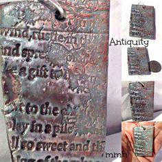 Antiquity Handmade Polymer Clay Pendant by rosebud101 on Etsy