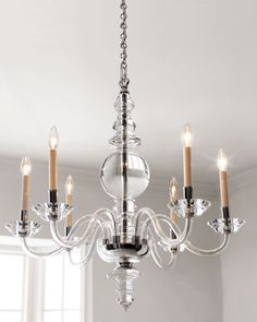 Shop George II Polished-Nickel Lighting from Visual Comfort at Horchow, where you'll find new lower shipping on hundreds of home furnishings and gifts. Chandelier Pendant Lights, Modern Chandelier, Baccarat Chandelier, Kitchen Chandelier, Silver Chandelier, Home Lighting, Lighting Design, Lighting Ideas, Kitchen Lighting