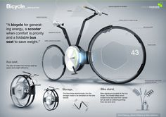 A bicycle for generating energy, a scooter when confort is priority...
