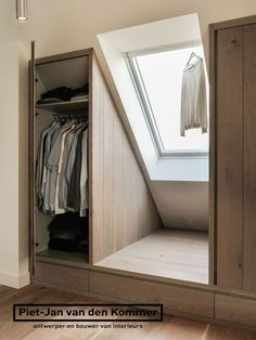 8 Easy And Cheap Tips: Attic Interior Basements attic kitchen basement stairs.Attic Art Home tiny attic ideas.Attic Interior [& The post Exalted Modern Attic Tubs Ideas appeared first on Lee Scahartz Interiors. Bedroom Closet Design, Master Bedroom Closet, Bedroom Wardrobe, Closet Designs, Closet Bedroom, Attic Bedroom Storage, Bedroom Wall, Bedroom Ideas, Closet Space