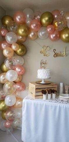 Balloons / Balloon Garland / DIY kIt / Balloon Arch / Peach Gold And Rose Gold / Bridal Shower / Bridal Balloon Garland / Confetti Balloons Balloons / Balloon Garland / DIY kIt / Balloon Arch / Peach Gold And Rose Gold / Bridal Shower / Bri Bachelorette Decorations, Birthday Balloon Decorations, Birthday Balloons, Birthday Parties, Bridal Balloons, Rose Gold Balloons, Confetti Balloons, Blowing Up Balloons, Balloon Arch