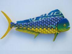 Pez delfín de Mahi Mahi Fish arte chapas Metal pared