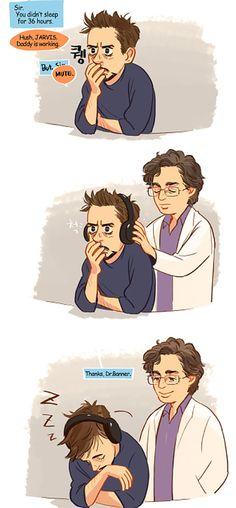 """Go to Sleep"" - by Hallpen Ya vimos lo que le pasa a Iron man sin el hermoso Hulk"