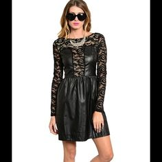 Faux leather dress Brand new! Dresses