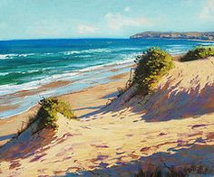 Seascape Paintings - Summer Day The Entrance  by Graham Gercken