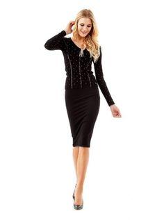 Stretch longuette skirt