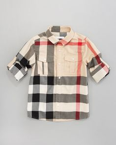Mini Giant Exploded Check Tee by Burberry at Bergdorf Goodman.