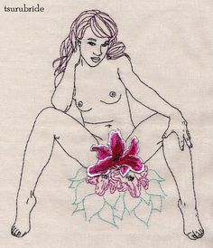 Nor a thorn nor a threat stain her beauty bright by tsurubride, $175.00