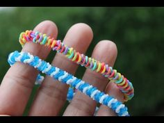 Rainbow Loom Nederlands, Tight Rope Armband - YouTube