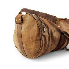 Große Leder Reisetasche rund + gratis Lederpflege BALLISTOL - 65cmx 30cm x 30cm