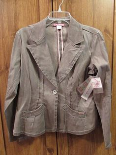 d907f01ebdb80 Details about Distressed Brown Blazer Size XL Stonewashed Tailored DNa  Casual Chic Jacket