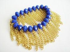 Pulseira Azul Franjas