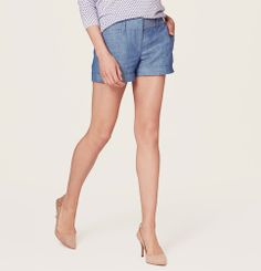 Chambray shorts.  I'd like them to be a little darker but this would be a great summer piece.