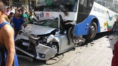 Car pinned by bus on EDSA is most horrific thing you'll see this week Top Gear, Automotive Industry, Philippines, Car, Photography, Automobile, Photograph, Fotografie, Photoshoot