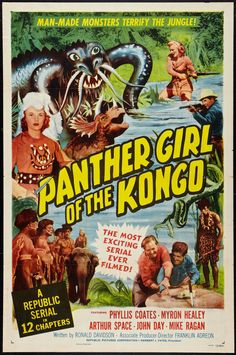 Panther Girl Of The Congo movie poster, 1955