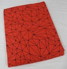 Dresówka pętelka Geometric: Czerwony Premium 270g/m2