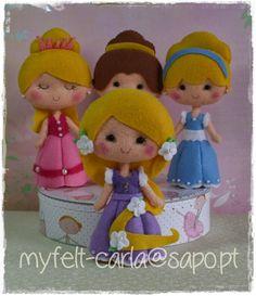 Princesas em feltro!