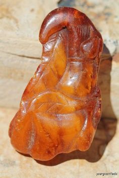 One side of a large antique hand carved Baltic amber bead. It's about 2 tall. Really nice. Amber Beads, Amber Jewelry, Minerals And Gemstones, Rocks And Minerals, Amber Fossils, Love Natural, Ruby Earrings, Jewelry Armoire, Baltic Amber