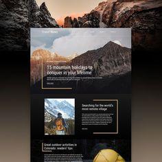 Website Design Inspiration, Best Website Design, Site Web Design, Website Design Layout, Web Design Company, Web Layout, Page Design, Layout Design, Travel Website Design